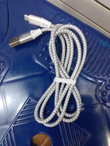 cable usb nylon y metal plug universal. mayor y detal