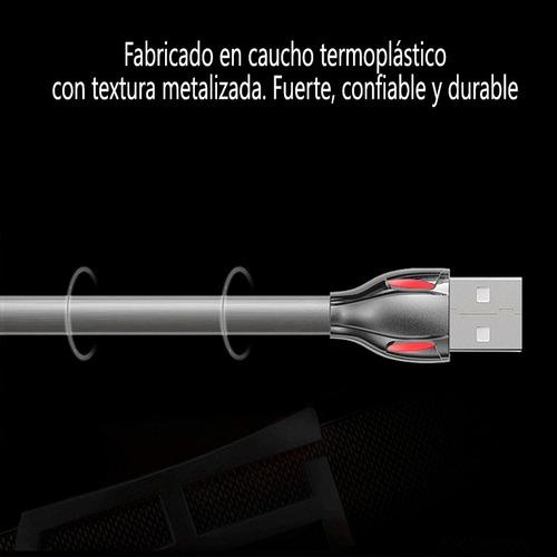 cable usb premium carga rapida led p/ samsung motorola lg