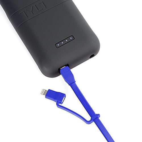 cable usb reversible tylt flypduo  1m  azul