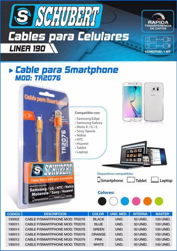 cable usb schubert para smartphones samsung motorola lg