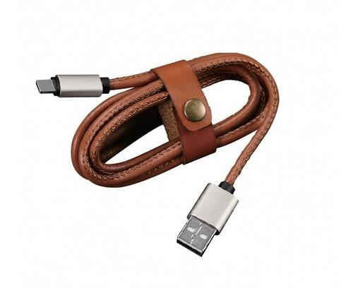 cable usb tipo c carga rapida datos de cuero s8 s9 s10 note