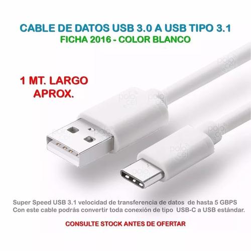 cable usb tipo c datos carga samsung s8 s8+ huawei motorola