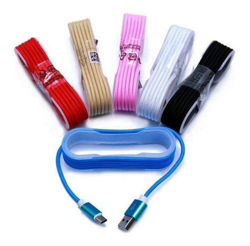 cable usb tipo c datos y carga 1 metro mallado excelente