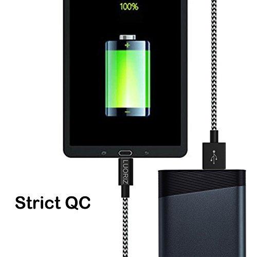 cable usb tipo c de luoriz (c a a), paquete de 3 m 2 m / 6 p