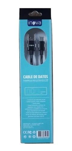 cable usb tipo c mallado de carga rápida 2 metros 2.1 amper