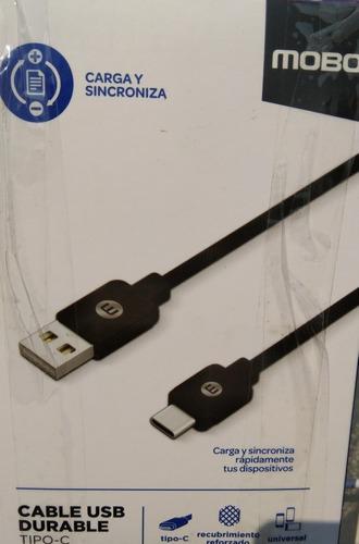 cable usb tipo c reforzado marca mobo.