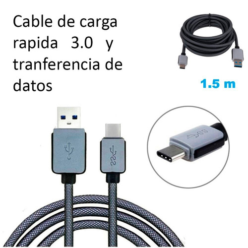 cable usb tipo c / thunderbolt 3 reforzado