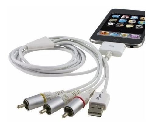 cable usb tv rca a av video para iphone ipod envio hoy *