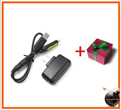 cable usb y adaptador original camara samsung suc-c3 c5 c7