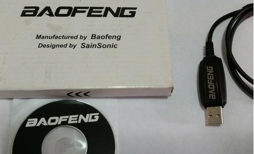 cable usb y cd para programar radios baofeng vhf uv 5r