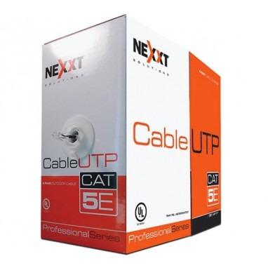 cable utp 4 pares cat5e 1000ft solid lan cm