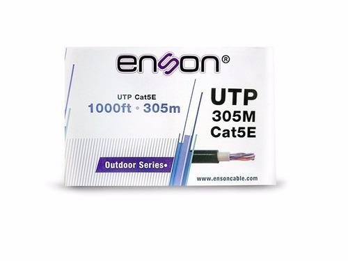 cable utp bobina enson 13151b305 pro-ii exterior cat5e 305mt