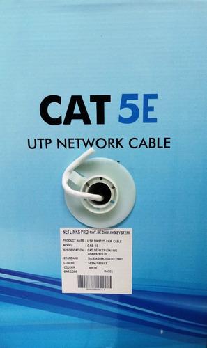cable utp cat 5 bobina 305 metros netlinks cat 5e redes cctv