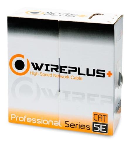 cable utp cat 5e bobina 100 metros marca wireplus+ cat5e