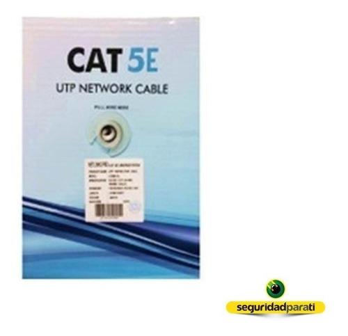 cable utp cat 5e bobina 100 metros netlinks red cat5e