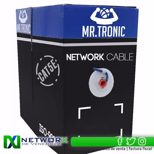 cable utp cat 5e mr tronic 305mts rj45 cctv testeado