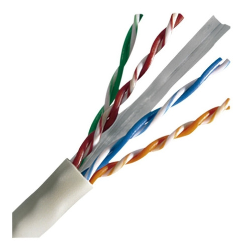 cable utp cat 6 100% cobre gigabit internet ponchado x metro