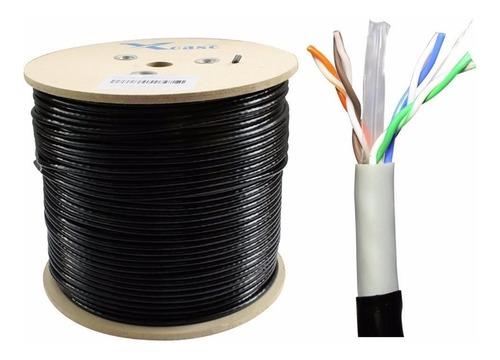 cable utp cat 6 gigabit internet exterior ponchado x metros