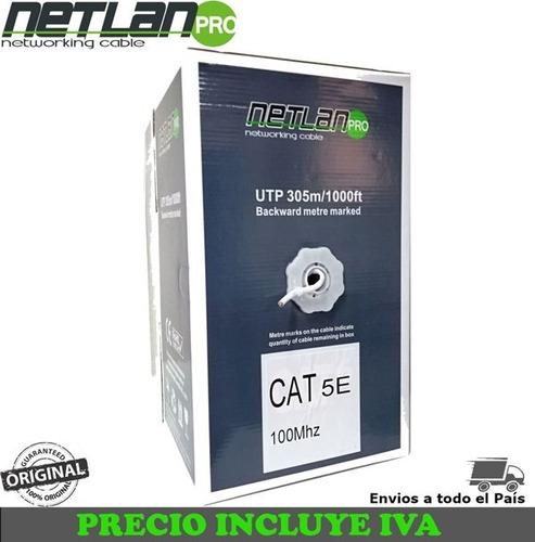 cable utp cat5 cat 5 caja 305m, red voz datos cctv interior