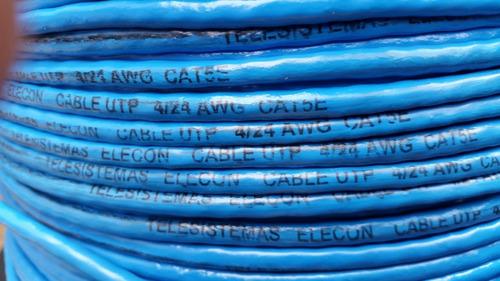 cable utp cat5e 100 metros, 100% cobre. cctv elecon