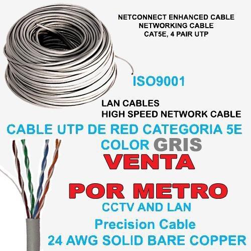 Cable utp cat5e 5 metro rj45 cctv redes seguridad lan bs for Cable para internet precio por metro