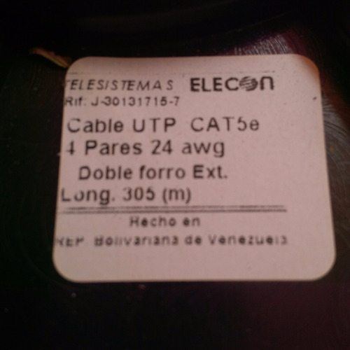 cable utp cat5e intemperie doble chaqueta por metro elecon