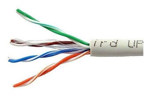 cable utp cat5e red categoria 5 100 mts bobina internet
