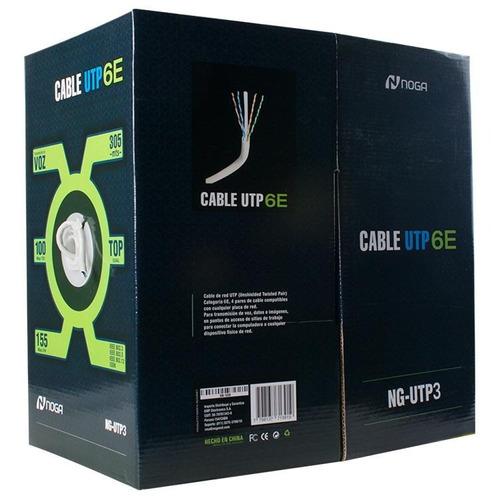 cable utp categoría 6e noganet bobina 305mt exelente calidad