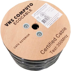 Cable Utp Doble Forro Exterior Cat6 Cal23 Negro 305mts B22