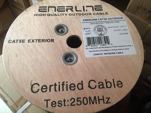 cable utp exterior 5e 305mts doble chaqueta