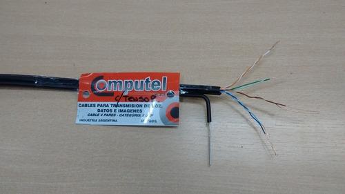 cable utp exterior cat 5 con tensor computel