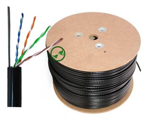 cable utp exterior mensajero portante cat5e 305mt calidad