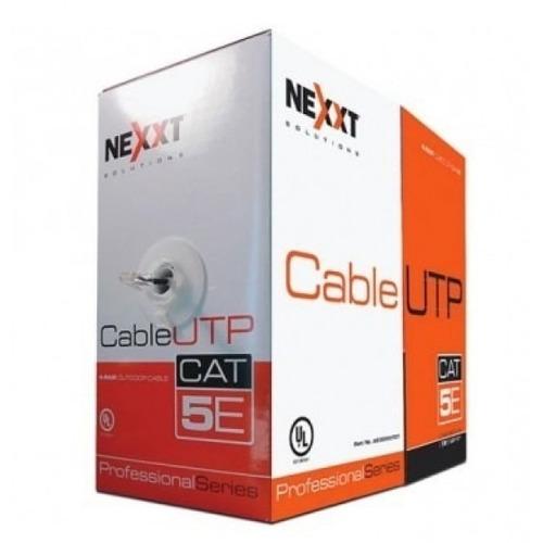 cable utp nexxt cat5e en bobina tipo cm - azul