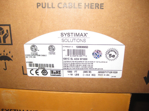 cable utp power sum systimax cat5e color gris nuevo
