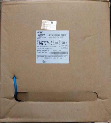 cable utp red bobina amp cat 6 azul por metro nuevo
