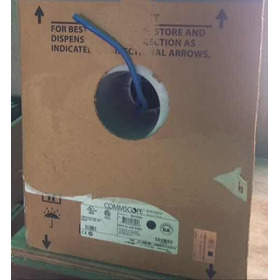 Cable Utp Systimax 6a Modelo 1091b 100% Cobre En Azul