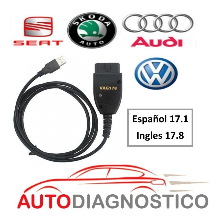 Cable Vag Com 17 8 Hex+can Vcds Vw Seat Audi Scanner Ing/esp