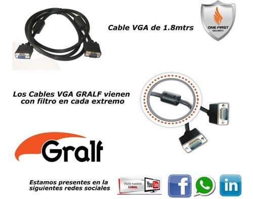 cable vga 1.8 metros doble blindado doble filtro m/m