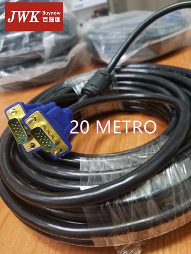 cable vga 20 metros 10/5/3m macho a macho monitor jwk vision