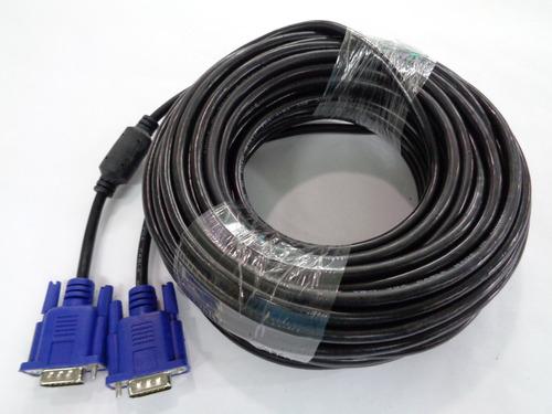 cable vga 20 metros macho macho 15 pines monitor pc tv hd