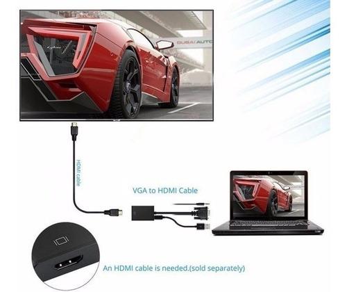 cable vga a hdmi adaptador convertidor notebook proyector