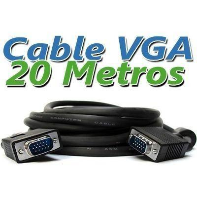 Cable vga a vga 20 metros conectores macho macho 537 - Cable ethernet 20 metros ...