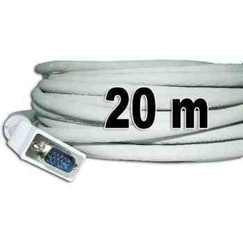 cable vga a vga 20 metros conectores macho-macho proyector