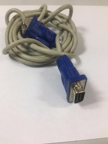 cable vga color blanco  azul de 1 mts usado tienda virtual