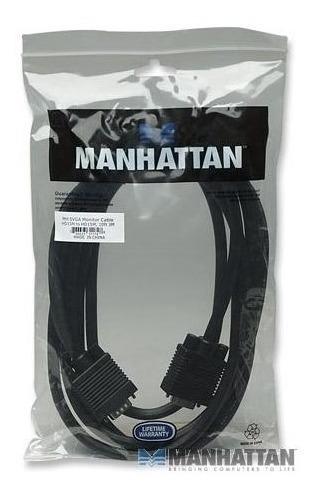 cable vga de 3 mts macho macho blindado con filtro