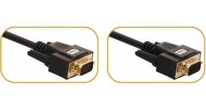 cable vga extension para monitor de 7.5 mts chapa de oro mm9