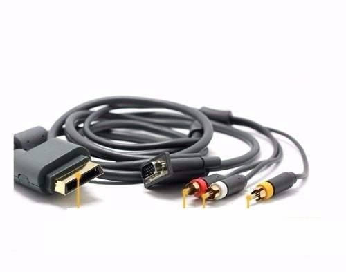 cable vga hd xbox 360 audio y video av 1080i 480p db15-s