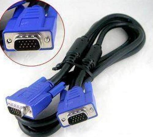 cable vga macho  a macho 1.5metros dobles filtros15pin