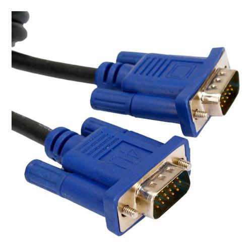 cable vga macho macho 1.5 metro 15 pin doble filtro