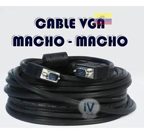 cable vga para proyector o monitor 10 metros blindado nuevo